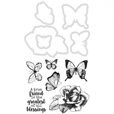 Kaiser Craft Decorative Die and Stamp – Butterfly