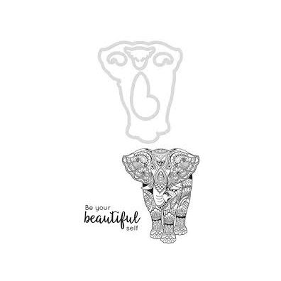 Kaiser Craft Decorative Die and Stamp – Elephant