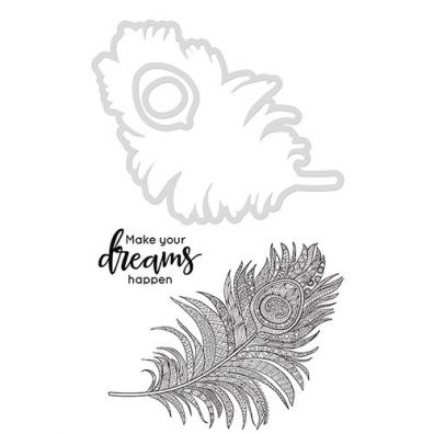 Kaiser Craft Decorative Die and Stamp – Feather