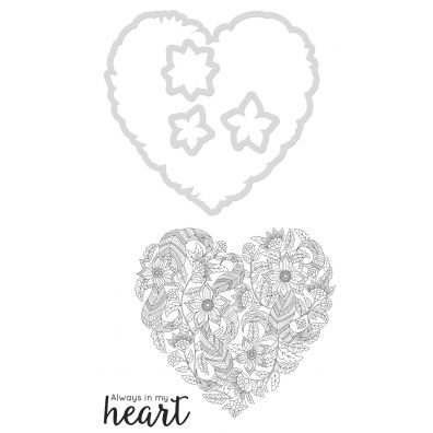 Kaiser Craft Decorative Die and Stamp – Heart