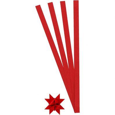 Stjernestrimler B: 10 mm Rød