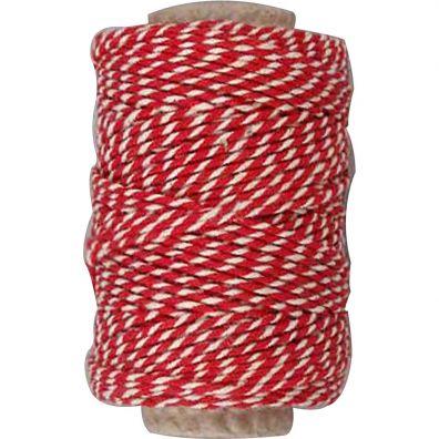 Twine Rød-hvid 50m.