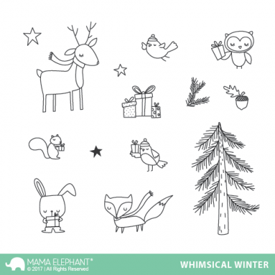 Mama Elephant Clear Stamps - Whimsical Winter