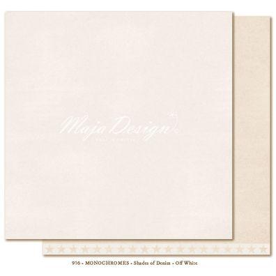 Monochromes - Denim & Friends - Off White Mønsterpapir fra Maja Design