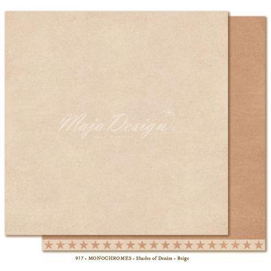 Monochromes - Denim & Friends - Beige Mønsterpapir fra Maja Design