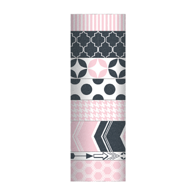 My Minds Eye Decorative Tape 2 - Pink & Charcoal