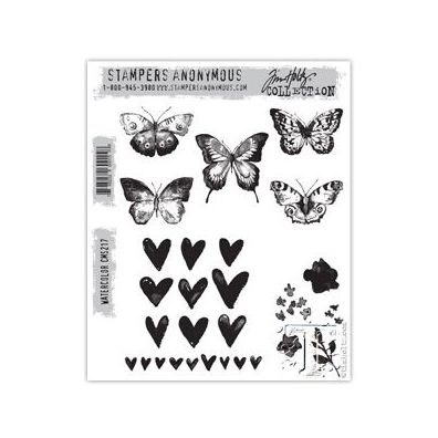 Tim Holtz Cling Stamp - Watercolor
