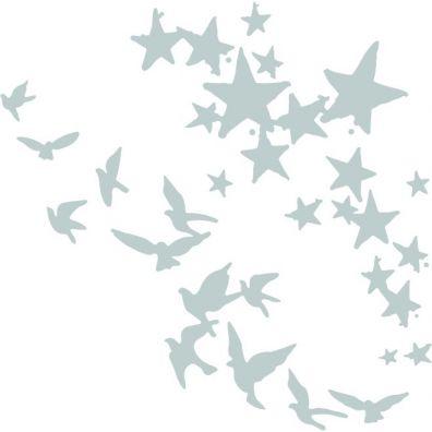 Sizzix Die - Birds and Stars