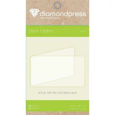 Diamond Press Blank Folders 4,8 x 8 cm