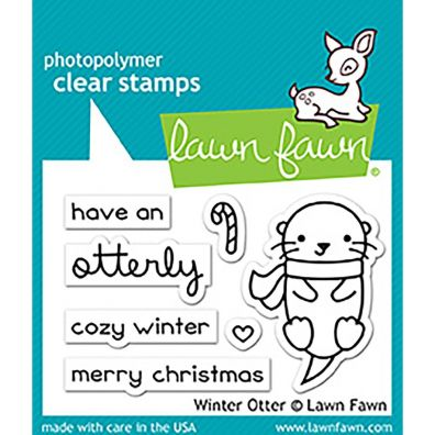 Lawn Fawn Clear Stamp - Winter Otter