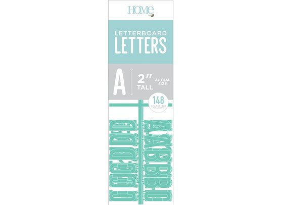 DCWV Letterboard Letters - Teal