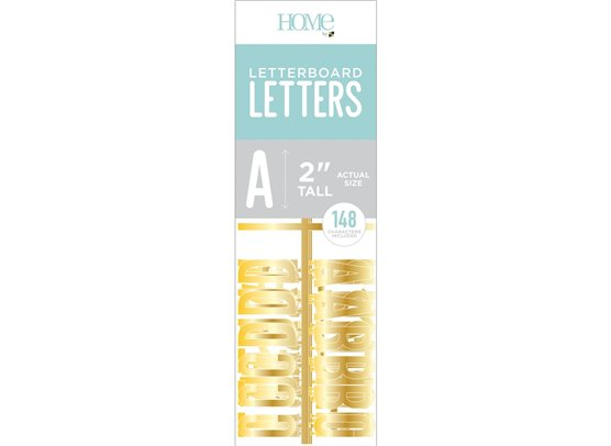 DCWV Letterboard Letters - Gold