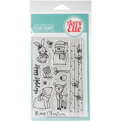 Avery Elle Clear Stamp - Winter Woodland Wonders