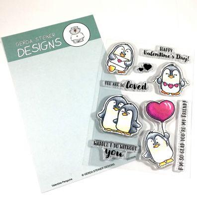 Gerda Steiner Clear Stamps - Valentine Penguin