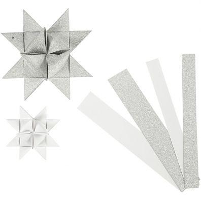 Vivi Gade Stjernestrimler B: 15+25 Sølv og hvid