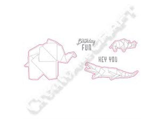 Richard Garay Origami Love Collection Dies og Stempler - Hey You Folds