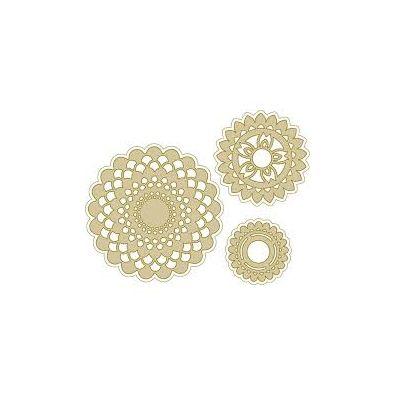 Richard Garay Silver & Gold Collection Dies - Doily Burst