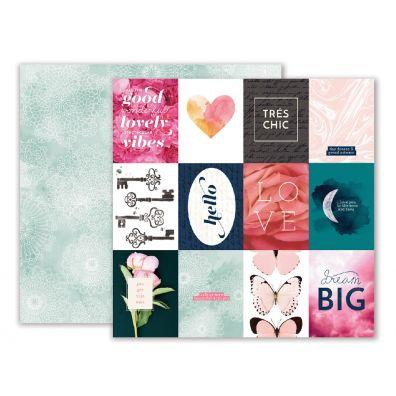 Pink Paislee Moonstruck - Paper 01 mønsterpapir