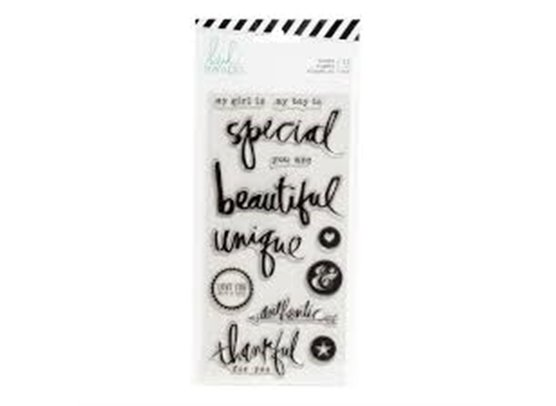 Heidi Swapp Clear Stamps - Special Words & Icons