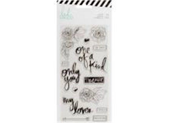 Heidi Swapp Clear Stamps - Only You Words & Icons