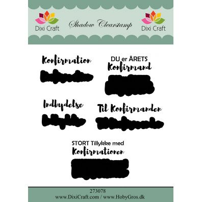Dixi Craft Clear stamps - Studenter Tekster