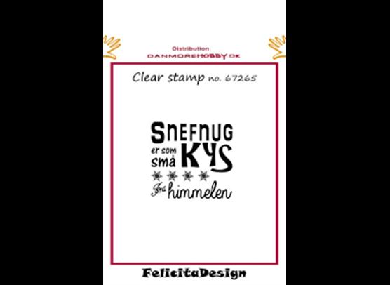 Felicita Design dansk Stempel - Snefnug er som små Kys