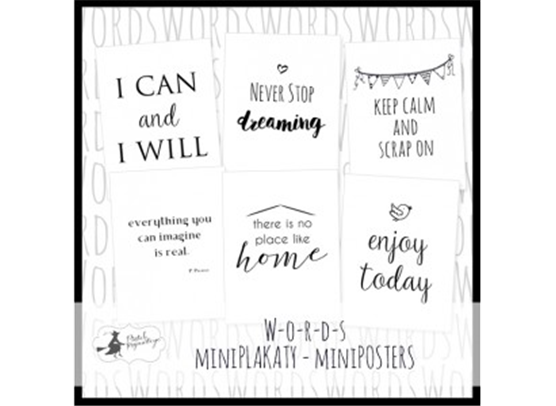 Piatek13 W-O-R-D-S Paper Pack - Mini Posters