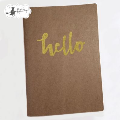 Piatek13 Art Journal - A5 Hello (Kraft)
