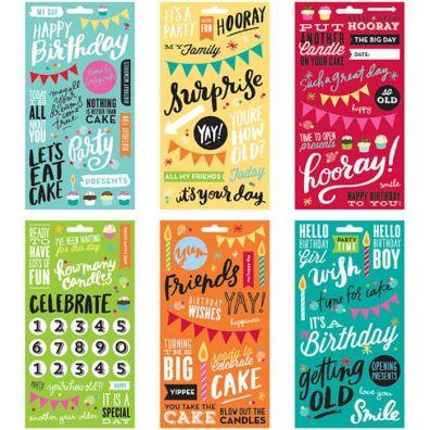 Me and My Big Ideas Mambi Stickers Book - Birthday