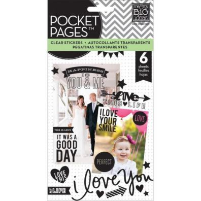 Me and My Big Ideas Pocket Pages Stickers - Love