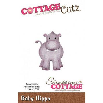 Cottage Cutz Dies Baby Hippo