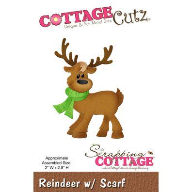Cottage Cutz Dies Reindeer w/ Scarf