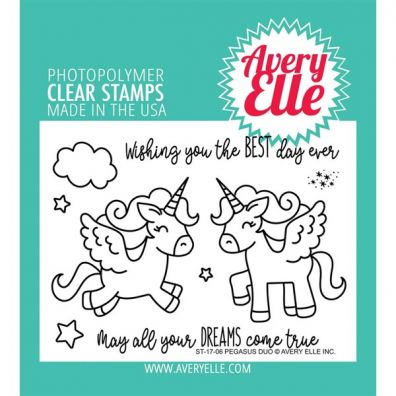 Avery Elle Clear Stamp - Pegasus Duo
