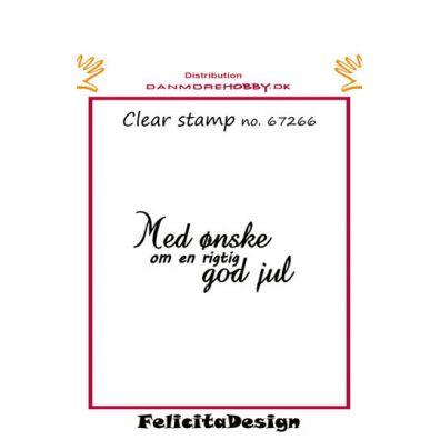Felicita Design dansk stempel - Med ønske om en rigtig god jul