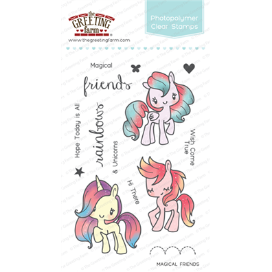 The Greeting Farm Clear Stamps - Magical Friends