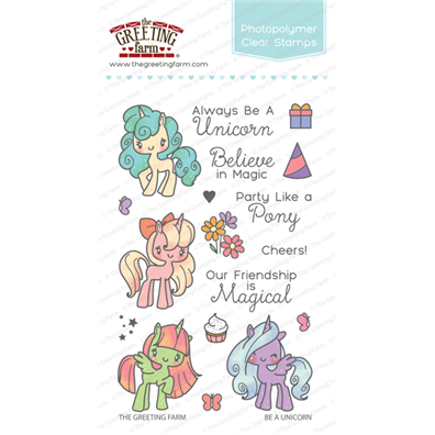 The Greeting Farm Clear Stamps - Be A Unicorn