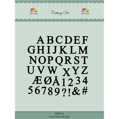 Dixi Craft Dies - Dansk Alfabet Store Bogstaver