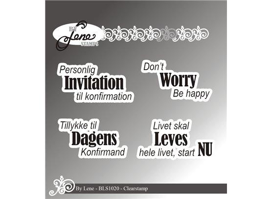 By Lene Stempler - Personlig Invitation til konfirmation