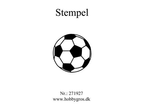 Stempel Fodbold 40x40mm Clear Stamp