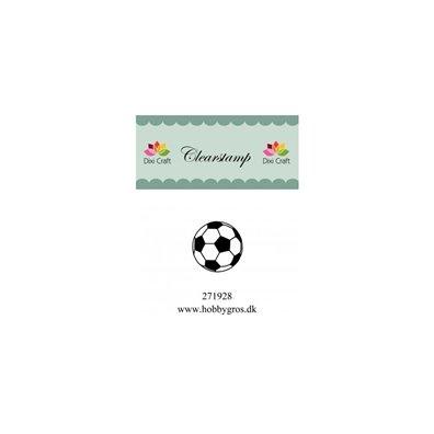 Stempel Fodbold 25x25mm Clear Stamp