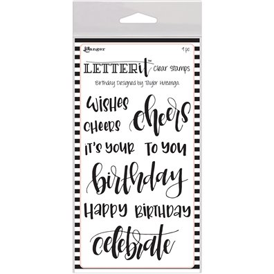 Ranger Letter It Clear Stamp - Birthday