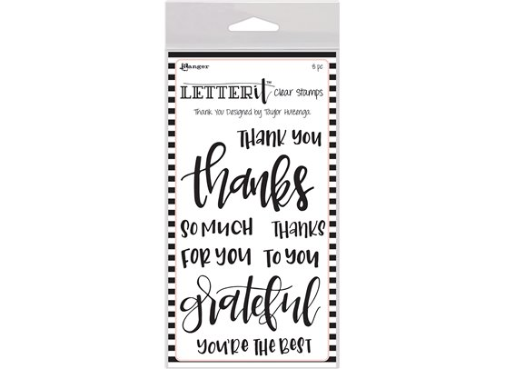 Ranger Letter It Clear Stamp - Thank You