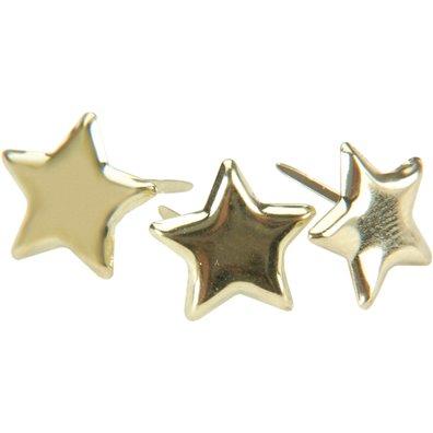 Stjerne Brads - Guld - 50 stk