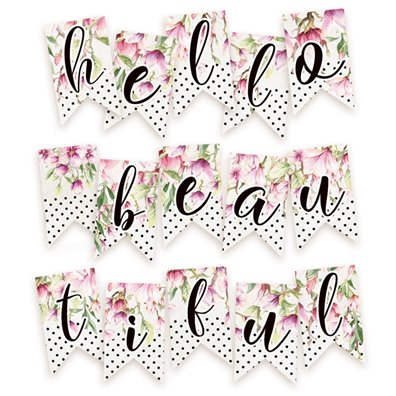Piatek13 Hello Beautiful - Paper die-cut Garland
