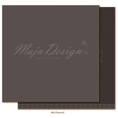 Monochromes - Shades of Celebration - Charcoal Mønsterpapir fra Maja Design