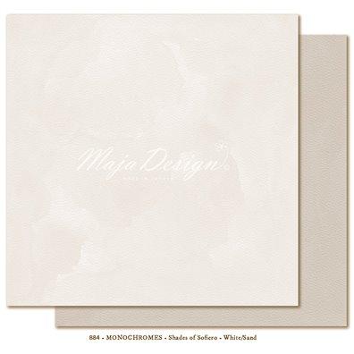 Monochromes - Shades of Sofiero - White/Sand Mønsterpapir fra Maja Design