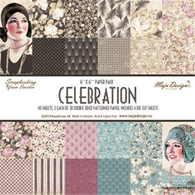 Celebration 6x6 Paper Pack fra Maja Design