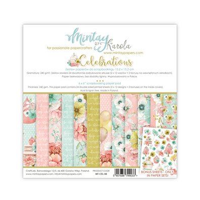 Mintay By Karola Celebrations 6x6 Paper Pad