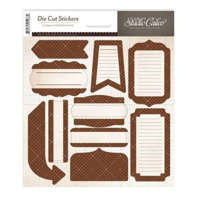 "Studio Calico 6x6"" DieCut Stickers Brown"