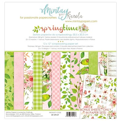 Mintay By Karola Springtime Paper Pack